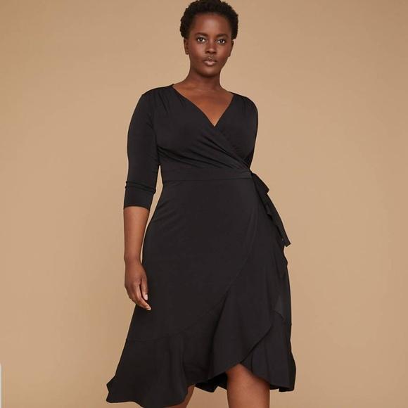 3d569472f6c NWT Lane Bryant 3 4 Sleeve Matte Jersey Wrap Dress